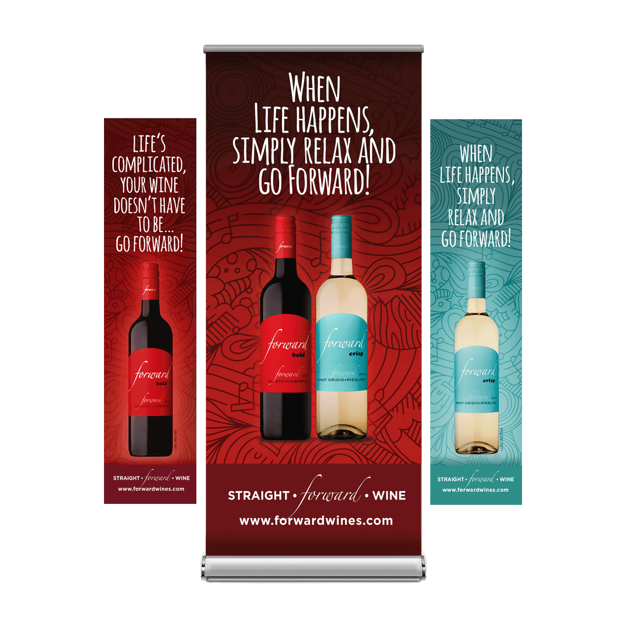 Forward Wines Banners- Peele Island Winery - BANG! creative strategy by design