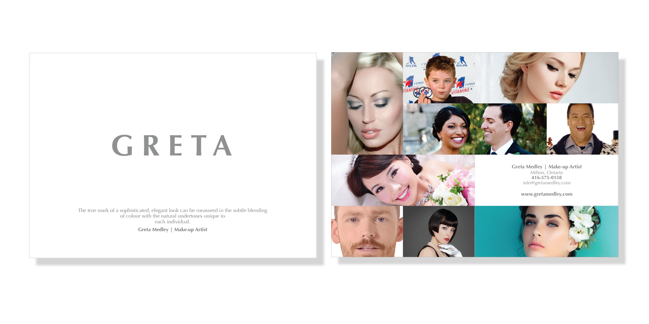 Marketing Materials Print Design GRETA by BANG! creative strategy by design