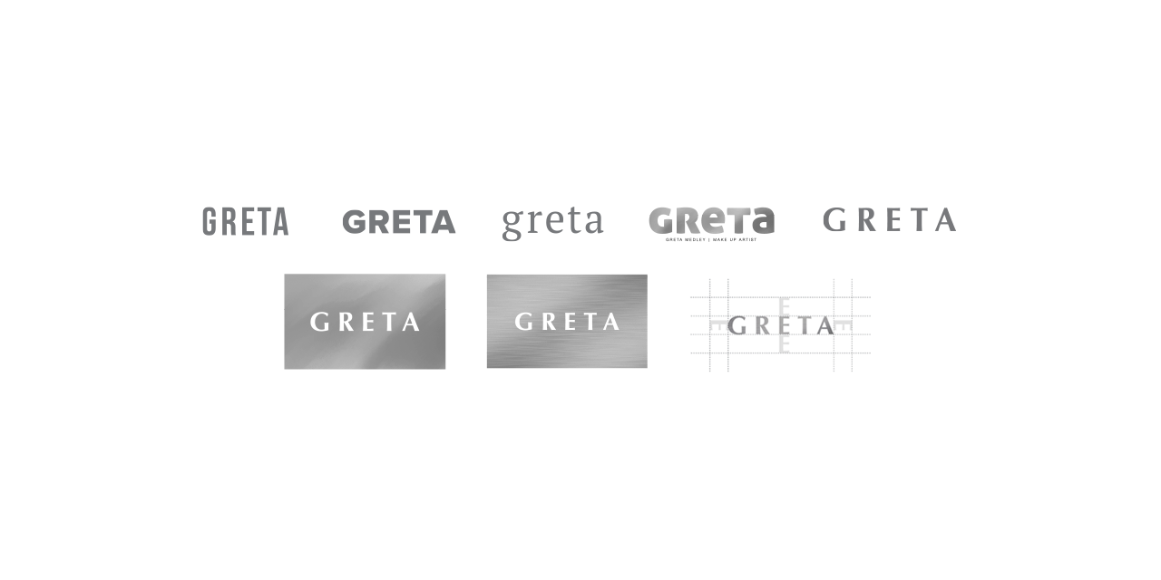 Logo Branding Identity Development GRETA by BANG! creative strategy by design