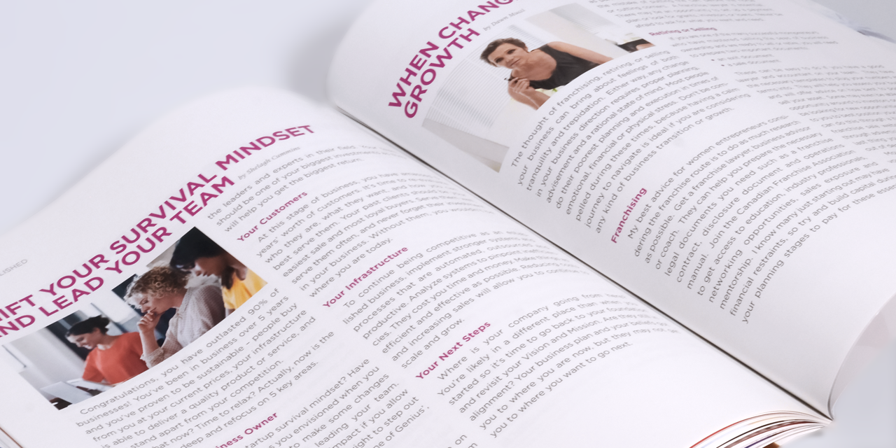 Mompreneur Magazine - Designed by BANG! creative