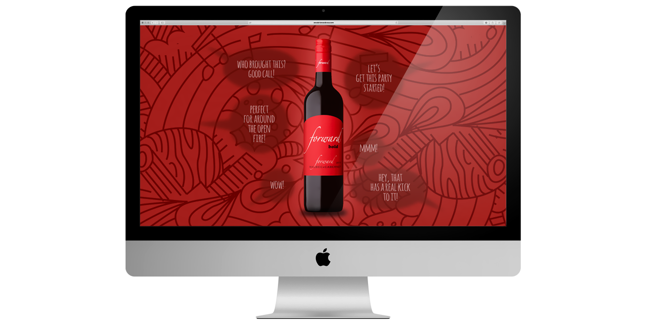 Website Design Forward Wines Peele Island Winery by BANG! creative strategy by designa