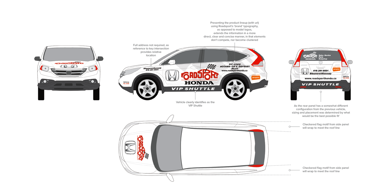 Roadsport Honda Shuttle - Designed by BANG! creative