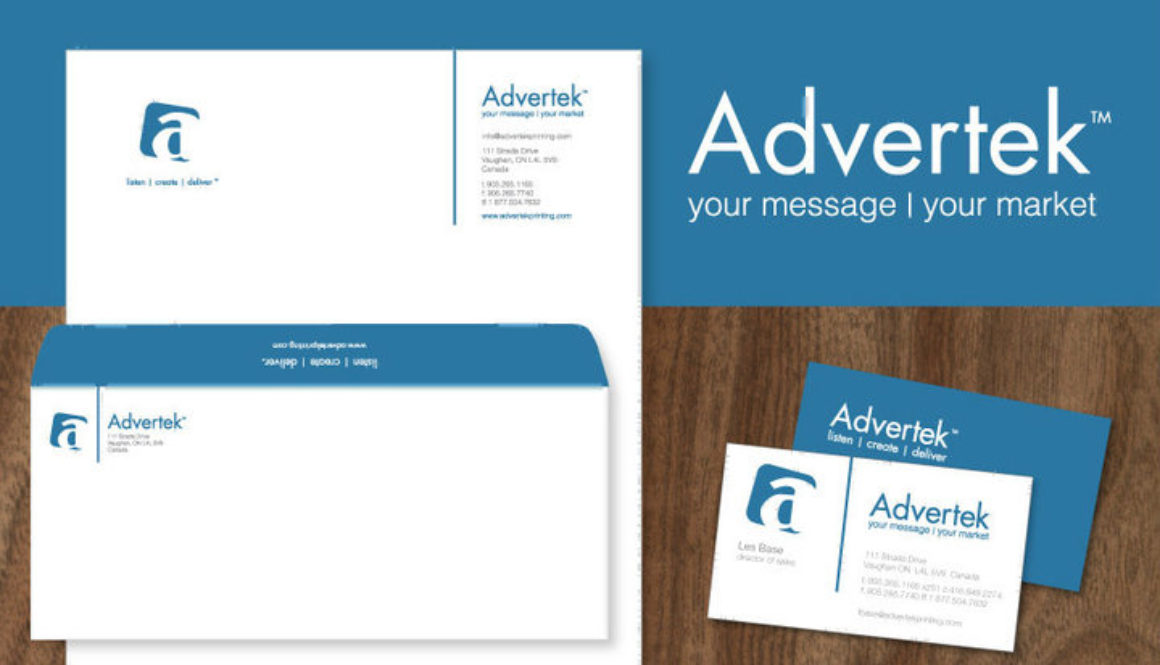 Logo Branding and Marketing Material for Advertek by BANG! creative strategy by design