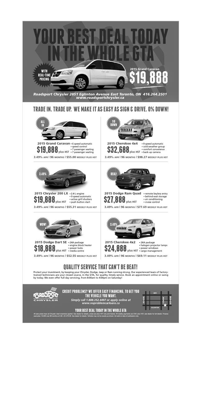 Roadsport Chrysler Ad - Designed by BANG! creative