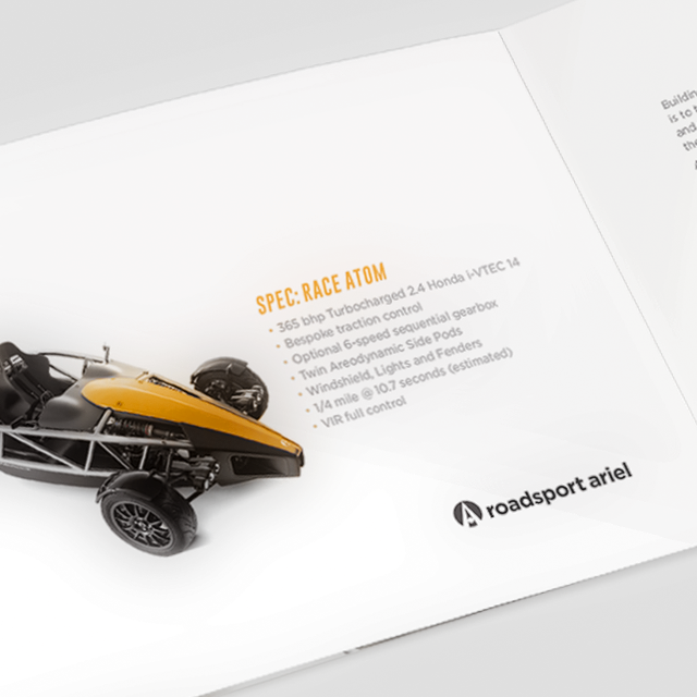 Roadsport Ariel Booklet - Designed by BANG! creative