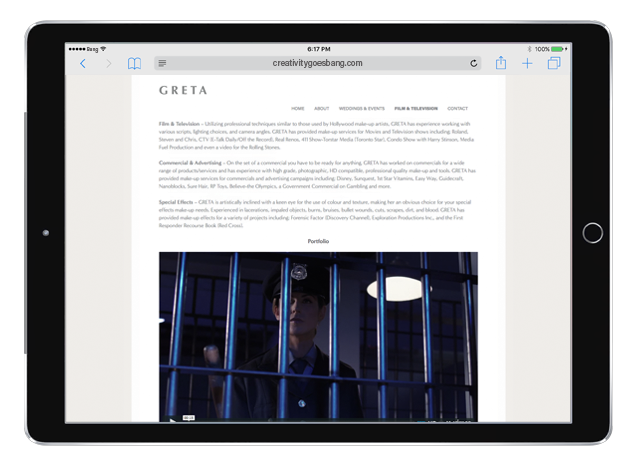 GRETA Mobile Website - Designed by BANG! creative