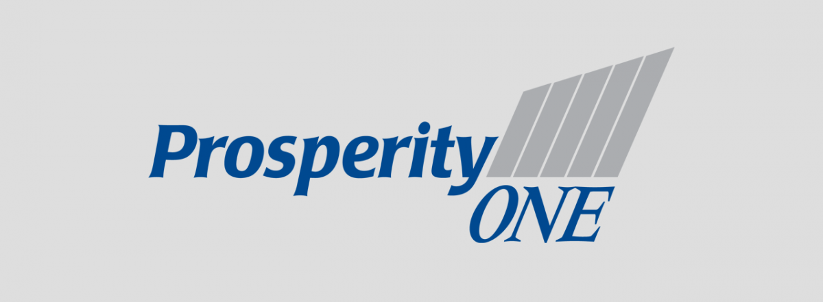 Branding Logo Prosperity One Credit Union by BANG! creative strategy by design