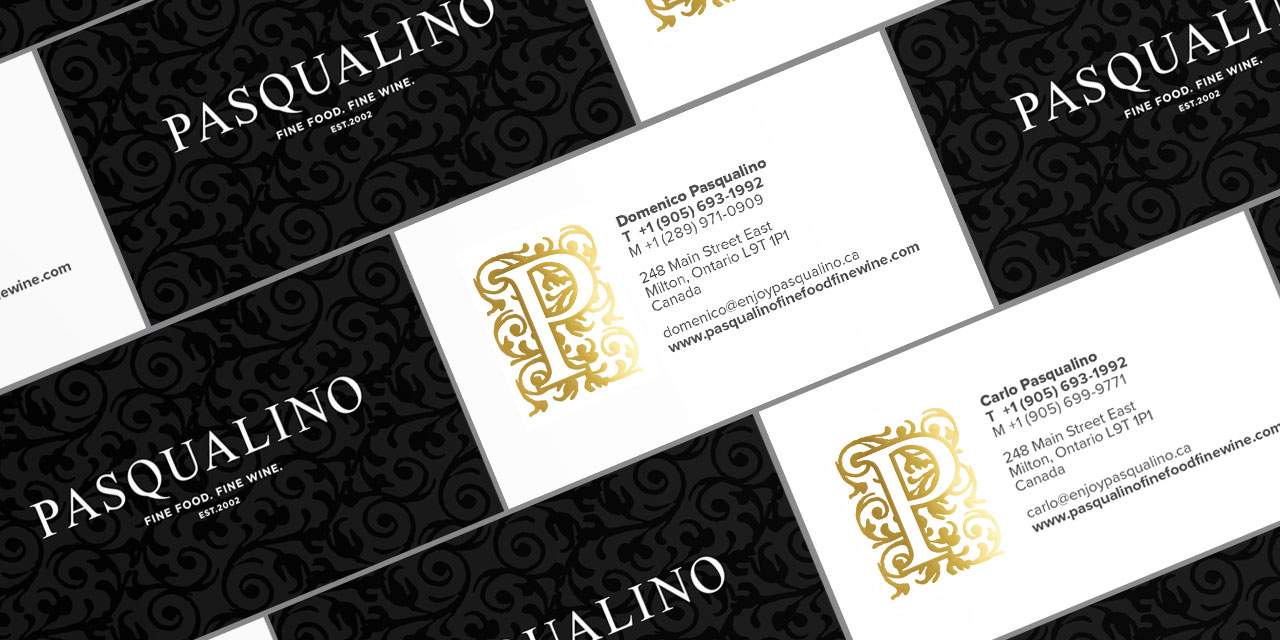 Business Cards Brand Development for Pasqualino by BANG! creative strategy by design