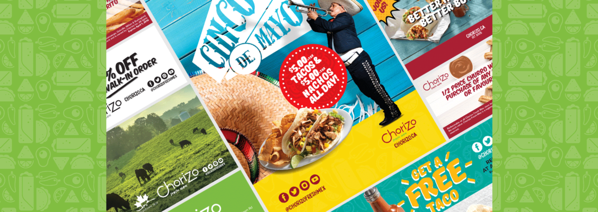 Chorizo Fresh Mex Boritos Tacos Fresh Mexiacan Food, creative design branding by BANG! creative strategy by design