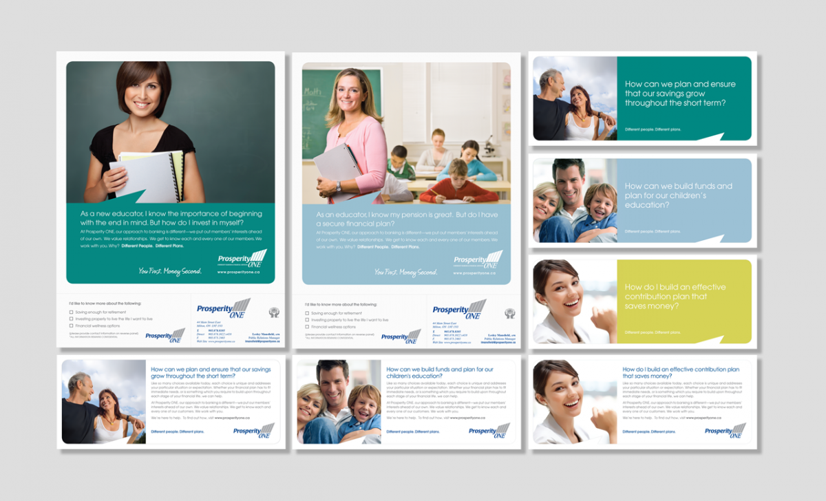 Marketing Campaign Prosperity One Credit Union by BANG! creative strategy by design
