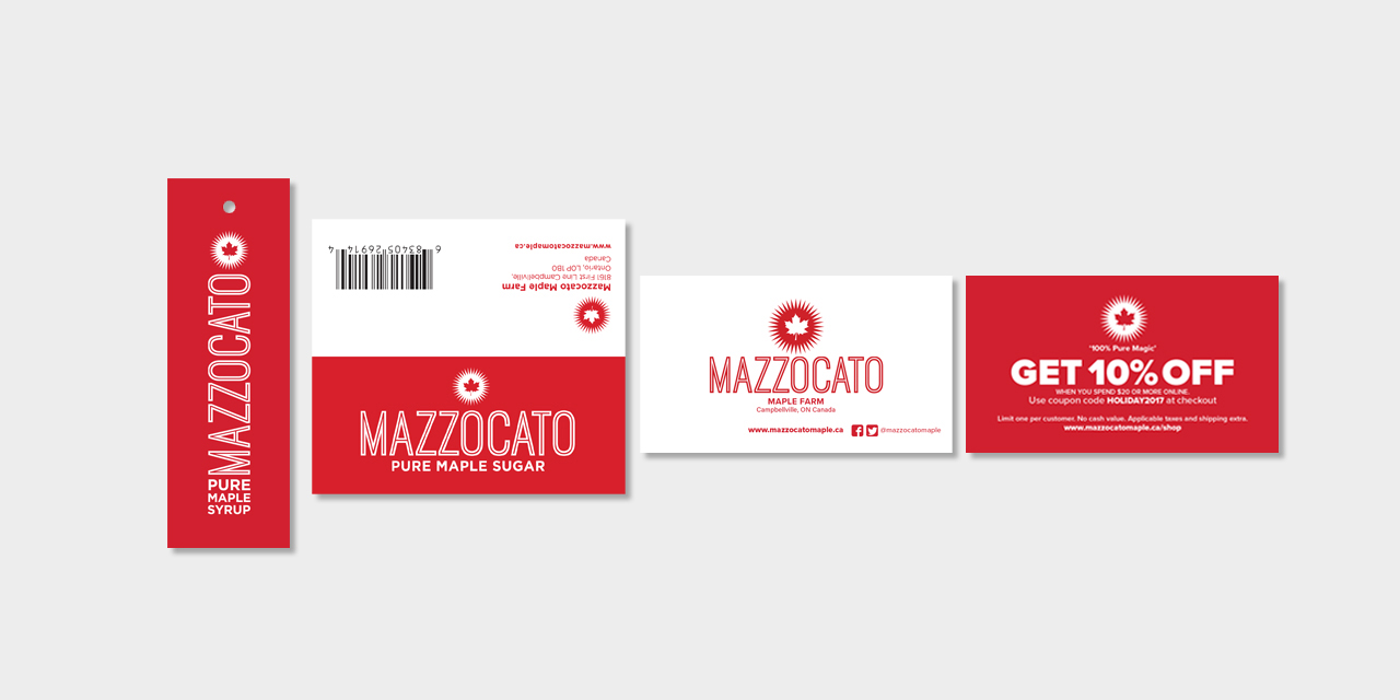 426db24659a Branding and Packaging Graphic Design of Mazzocato Maple Syrup by BANG!  creative strategy by design