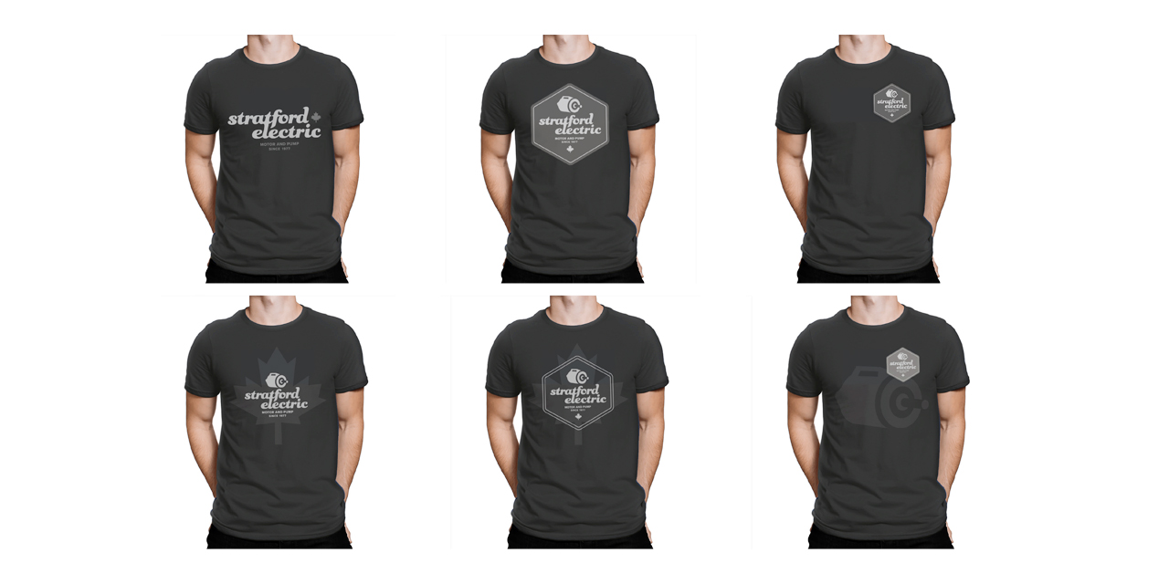 T-shirt, swag and custom merchandise for Stratford Electric Brand Design by BANG! creative strategy by design