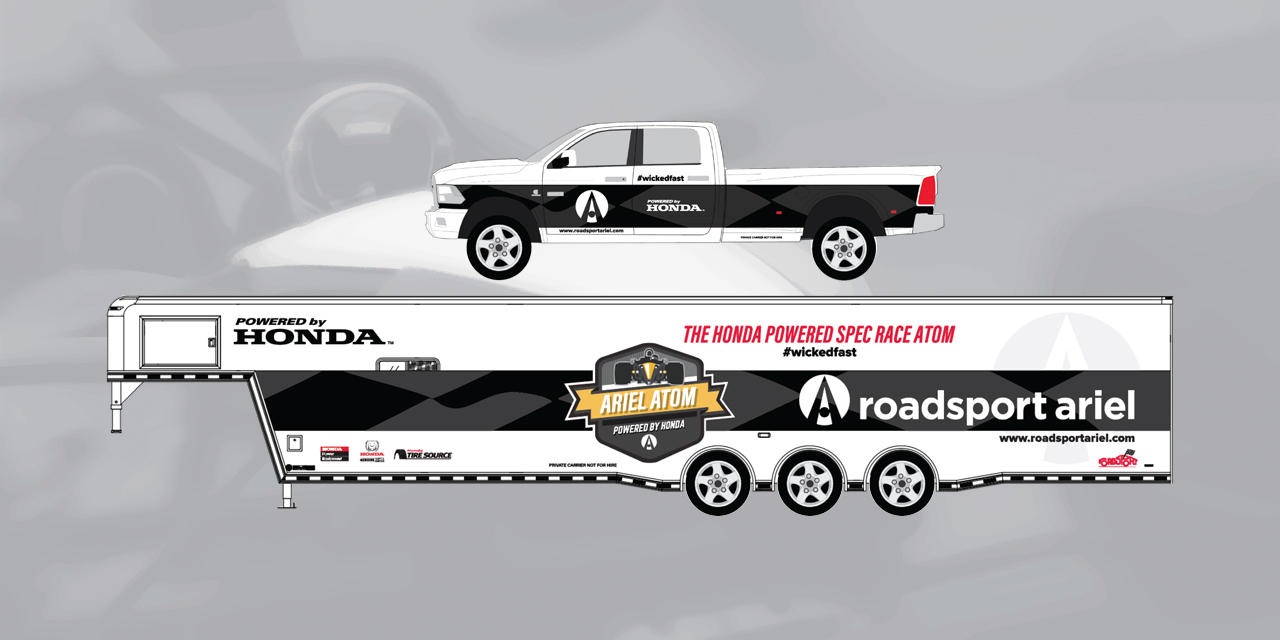 Vehicle Graphocs Vehicle Wrap Roadsport Ariel Trailer by BANG! creative strategy by design