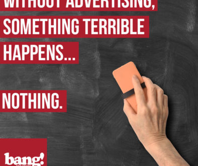 Wisdom Drop - Without Advertising Something Terrible Happens