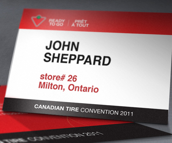 Branding and Marketing Material Badge for Canadian Tire Ready to Go by BANG! creative strategy by design