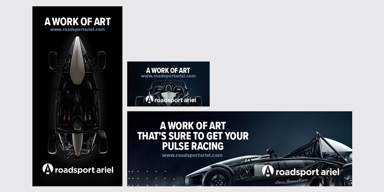 Ads Banners and Posters Roadsport Ariel by BANG! creative strategy by design
