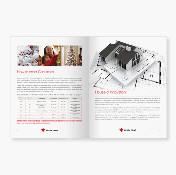 Branding and Marketing Material Booklet for Canadian Tire Ready to Go by BANG! creative strategy by design